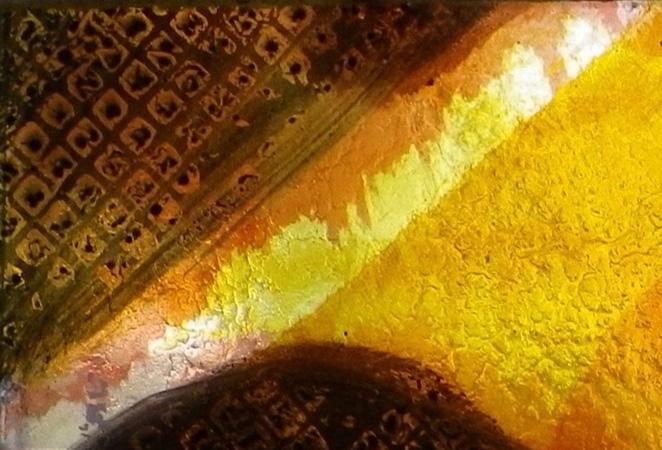Série Belle Ile, dalle de verre, cémentations et grisaille (détail) 2012